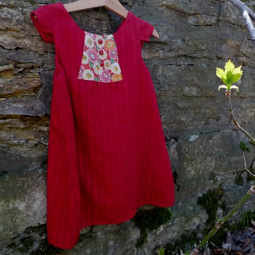 refashioned girl's dress