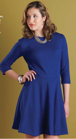Big Blue dress, Amber Eden