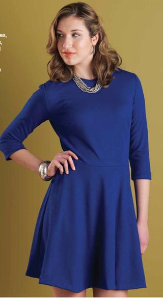 Big Blue dress, Amber Eden